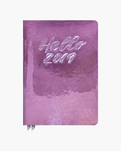Hello 2019 Metallic Pink Weekly Agenda