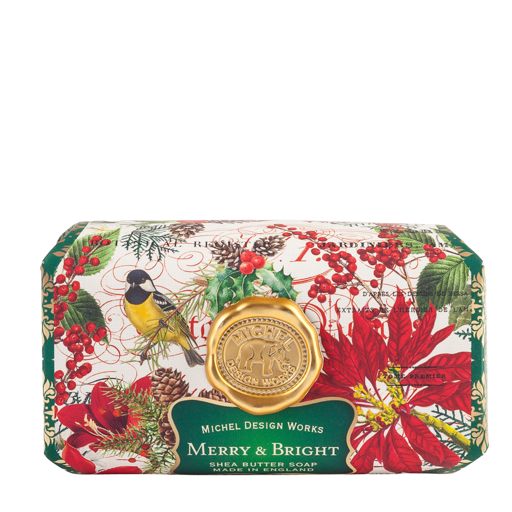 Michel Design Works Merry and Bright Large Bath Soap Bar