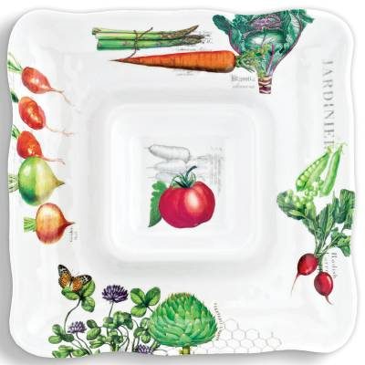 Vegetable Kingdom Melamine Chip and Dip Platter