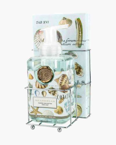 Seashells Foaming Hand Soap and Napkin Set
