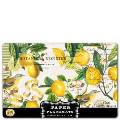 Lemon Basil Paper Placemats