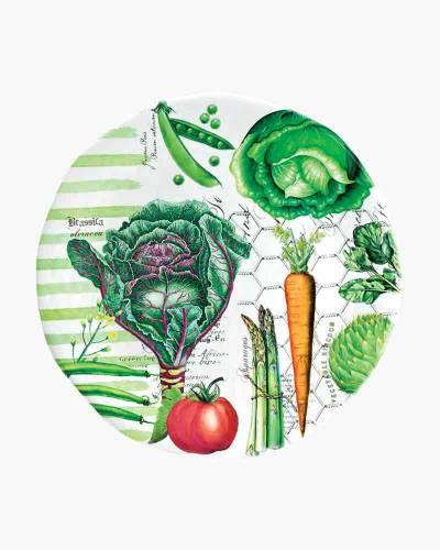 Vegetable Kingdom Large Round Melamine Platter