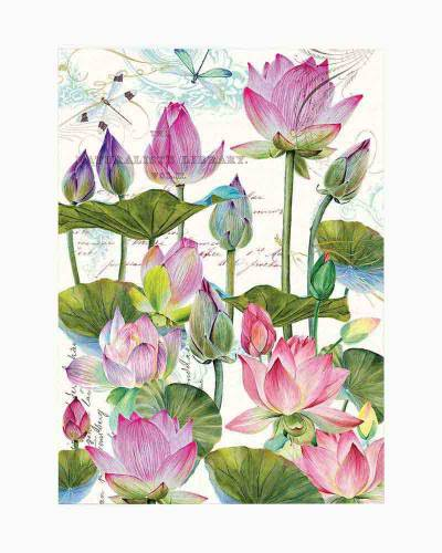 Water Lilies Kitchen Towel
