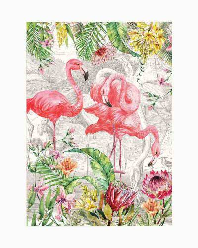 Flamingo Kitchen Towel