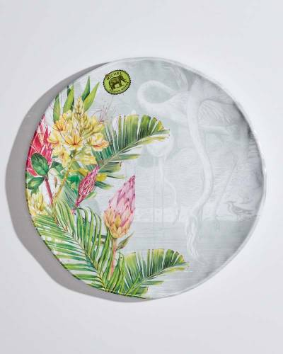 Flamingo Melamine Serveware Dinner Plate