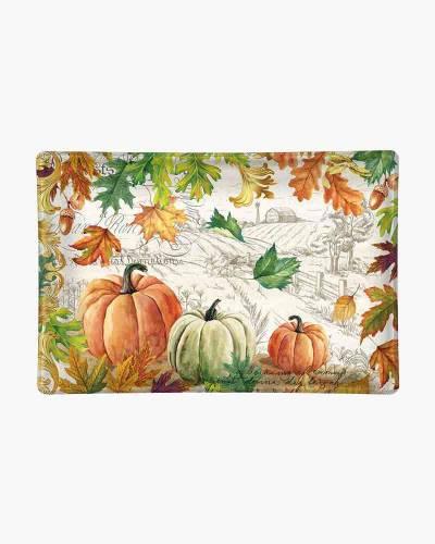 Fall Harvest Glass Soap Dish