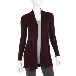 Fashion Village Maroon Cardigan Sweater