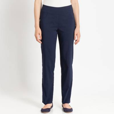 Stretch Twill Pants in Navy Blue
