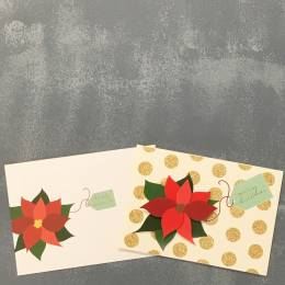 Expressive Design Group Merry Christmas Poinsettia Boxed Holiday Cards