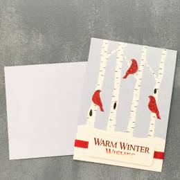 Expressive Design Group Warm Winter Wishes Birds Boxed Holiday Cards
