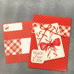 Expressive Design Group Candy Cane Peace and Joy Boxed Holiday Cards