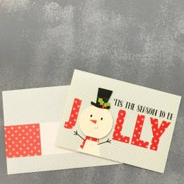 Expressive Design Group Jolly Snowman Boxed Holiday Cards