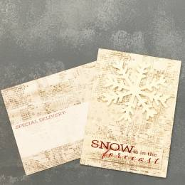 Expressive Design Group Snow is in the Forecast Snowflake Boxed Holiday Cards