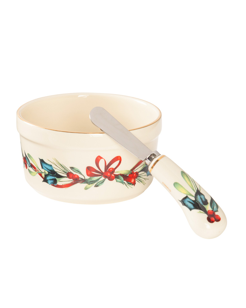Lenox winter greetings dip bowl and spreader the paper store m4hsunfo