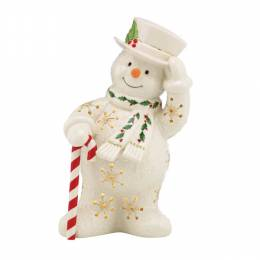 Lenox Happy Holly Days Lit Snowman Figurine