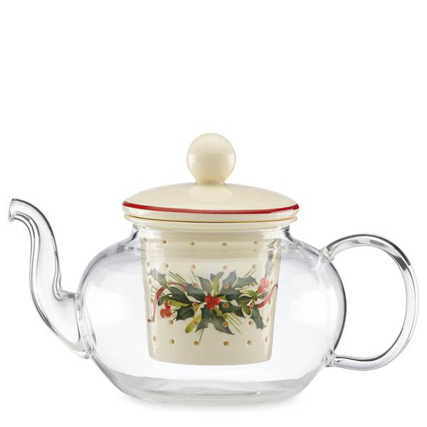 Lenox Winter Greetings Tea For One Teapot and Infuser Set