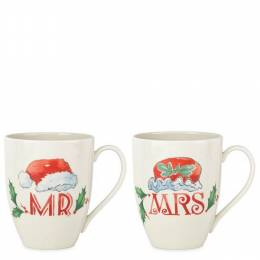 Lenox Holiday Mr. and Mrs. Two-piece Mug Set