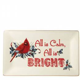 Lenox Winter Greetings All is Calm, All is Bright Tray