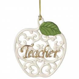Lenox Teacher Apple Ornament
