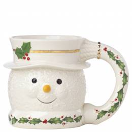 Lenox Happy Holly Days Snowman Mug