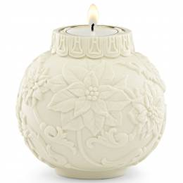 Lenox Poinsettia Ball Ornament Votive Candle Holder