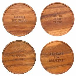 kate spade NEW YORK Wooden Expression Coasters (Set of 4)