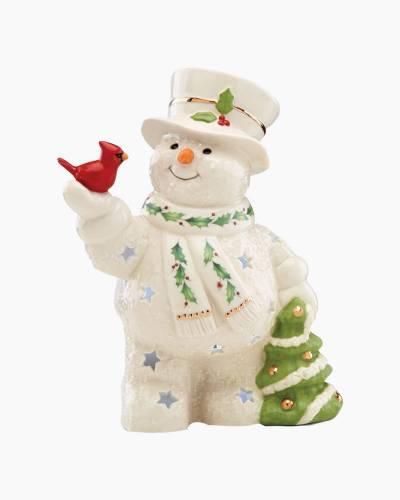 Happy Holly Days Snowman Lit Figurine
