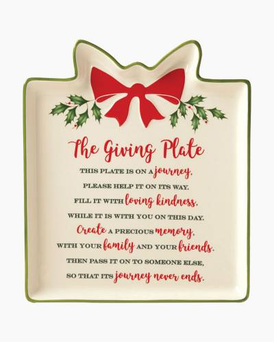 Hosting The Holidays Gift Giving Plate