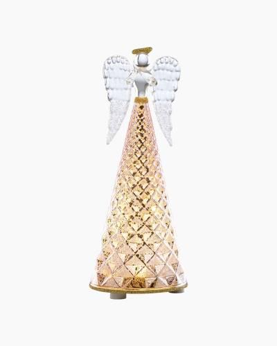 Gold Mercury Lit Glass Angel Figurine