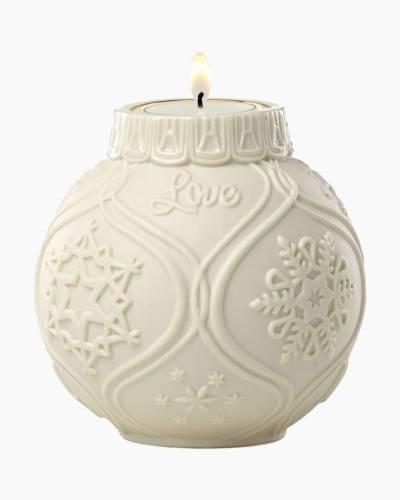 Ornamental Glow Snowflake Votive with Tealight