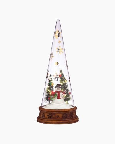 Merry and Magic Glass Snowman Scene