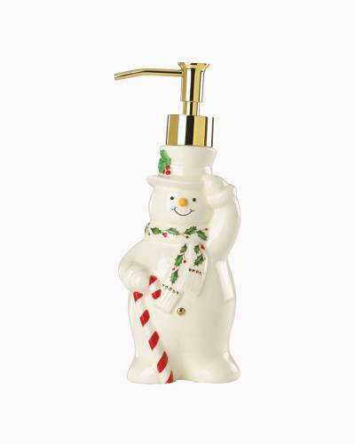 Happy Holly Days Snowman Soap Pump