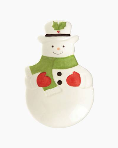 Hosting the Holidays Snowman Figural Spoon Rest