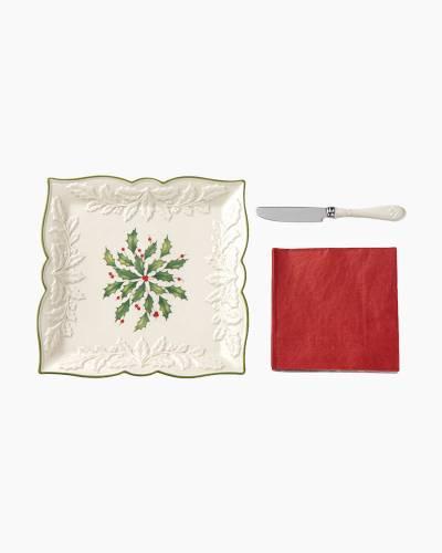 Hosting the Holidays 3-Piece Carved Napkin Tray