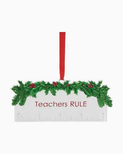 Teacher's Rule Metal Ornament