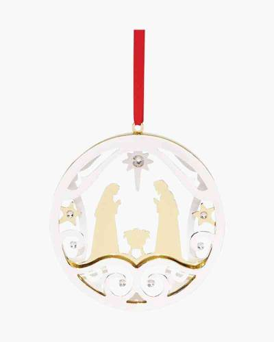 Stamped Nativity Ornament