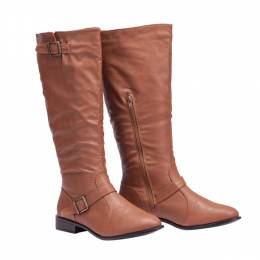 Brown Two-Buckle Boot