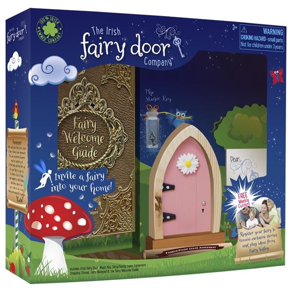 The irish fairy door company pink irish fairy door the for Hallmark fairy door