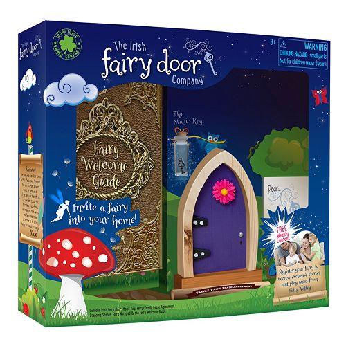 The irish fairy door company purple irish fairy door the for Hallmark fairy door
