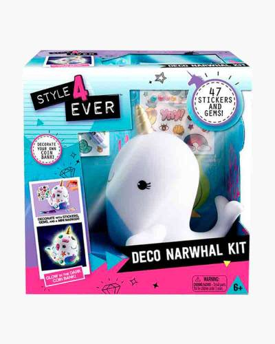 Deco Narwhal Bank Art Kit