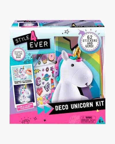 Deco Unicorn Bank Art Kit