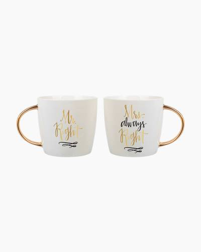 Mr. and Mrs. Right Mug Set