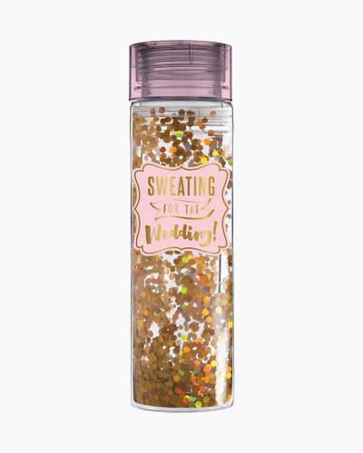 Sweating for the Wedding Confetti Water Bottle