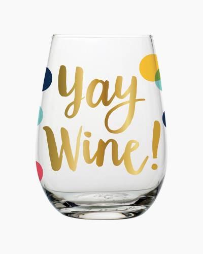 Yay Wine Stemless Wine Glass