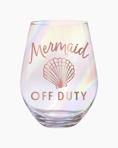 Mermaid Off Duty Jumbo Stemless Wine Glass