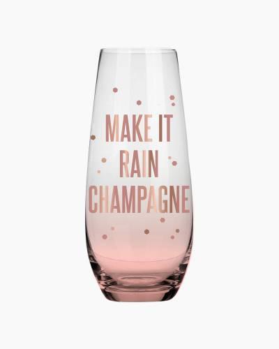 Rain Champagne Stemless Champagne Glass