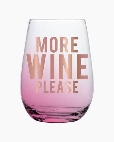 More Wine Stemless Wine Glass