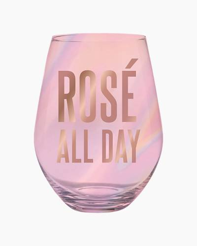 Rose All Day Jumbo Stemless Wine Glass