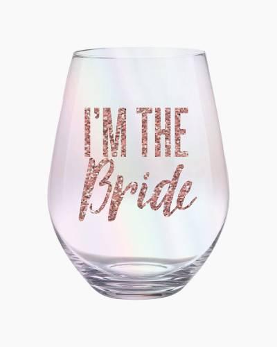 I'm the Bride Jumbo Stemless Wine Glass