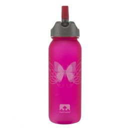 Nathan Butterfly Flip Straw Tritan Bottle